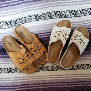 2 pairs ofcomfortview sandals 8 1/2 WW